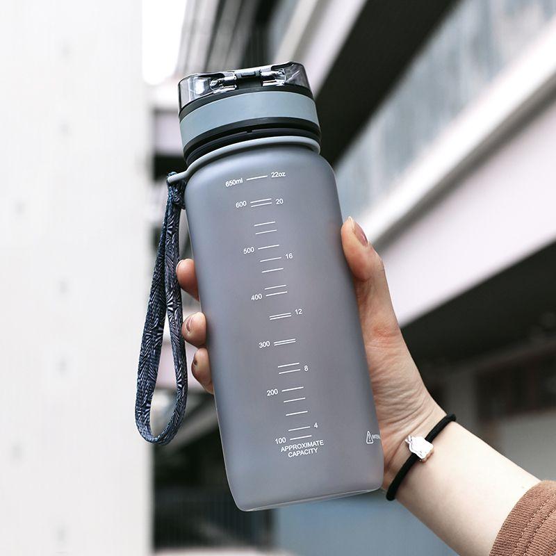 2016 Réel Protéines Bouteille D'eau Uzspace Amoureux Tasse Étudiant Portable En Plastique Verseau Motion Ma Bouteille 650 ml Tritan (bpa livraison)