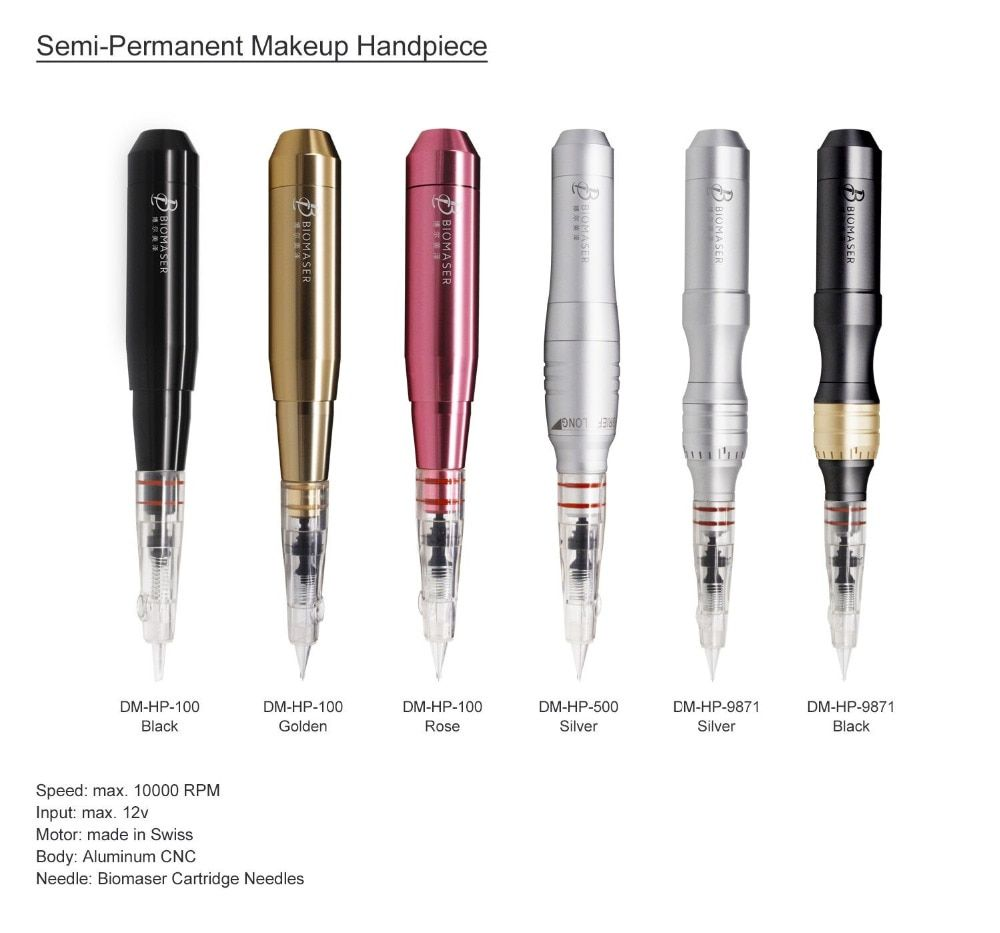 Biomaser Original Permanent Make-Up Maschine Tattoo Stift Augenbraue Schweizer Motor Rotary Tattoo Maschine Rotary Auto mit Speed Control