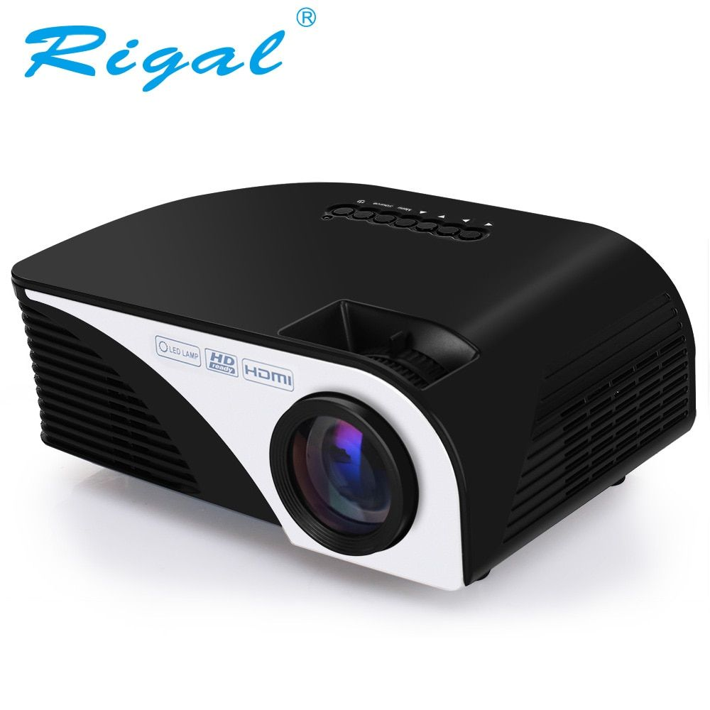 Rigal Projecteur RD805B 1200 Lumens Android 4.4.4 WIFI LED Portable MINI Projecteur 3D Beamer pour Vidéo Home Cinéma Théâtre Film