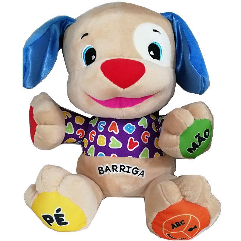 Portugais parlant chantant chiot jouet Doggy poupée bébé éducatif Musical en peluche jouets dans les portugal brésiliennes