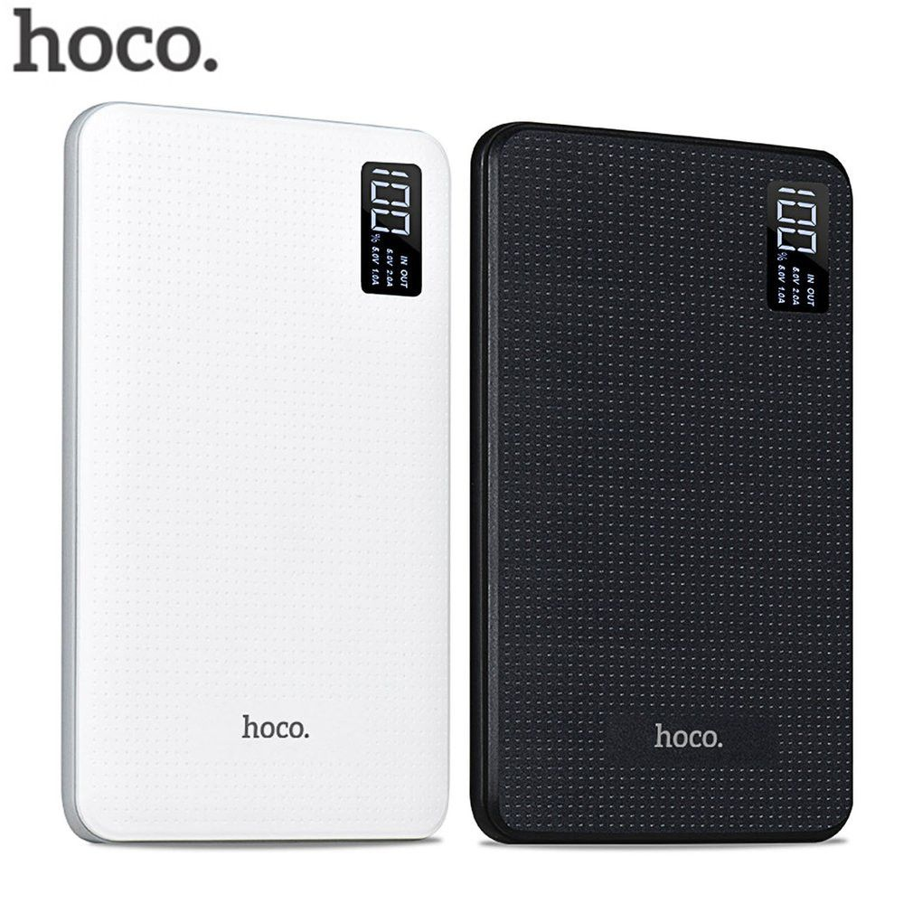 HOCO power bank 30000mAh Portable PowerBank quick Charge power socket three USB Output External Batteries Pack Digital Display