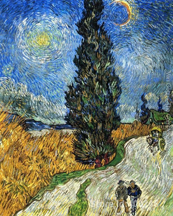 Cypress against a Starry Sky by Vincent Van Gogh Oil painting reproduction home decor Hand painted High quality