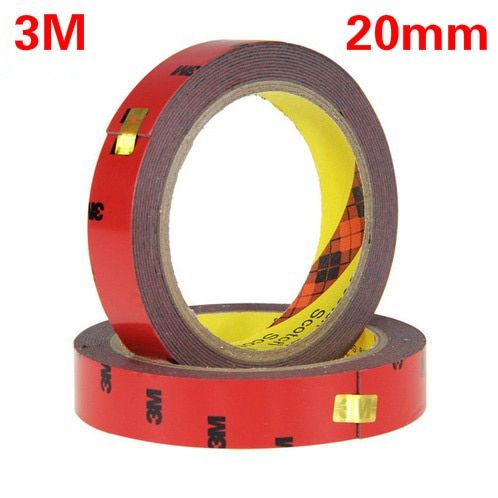 3M Black Tape 20mm Double Sided Sticker Acrylic Foam Adhesive, Car Interior Tape Free Shipping