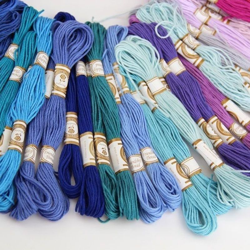 50/100PCS Cross Stitch Cotton Embroidery Thread Floss Sewing Skeins Craft LBShipping