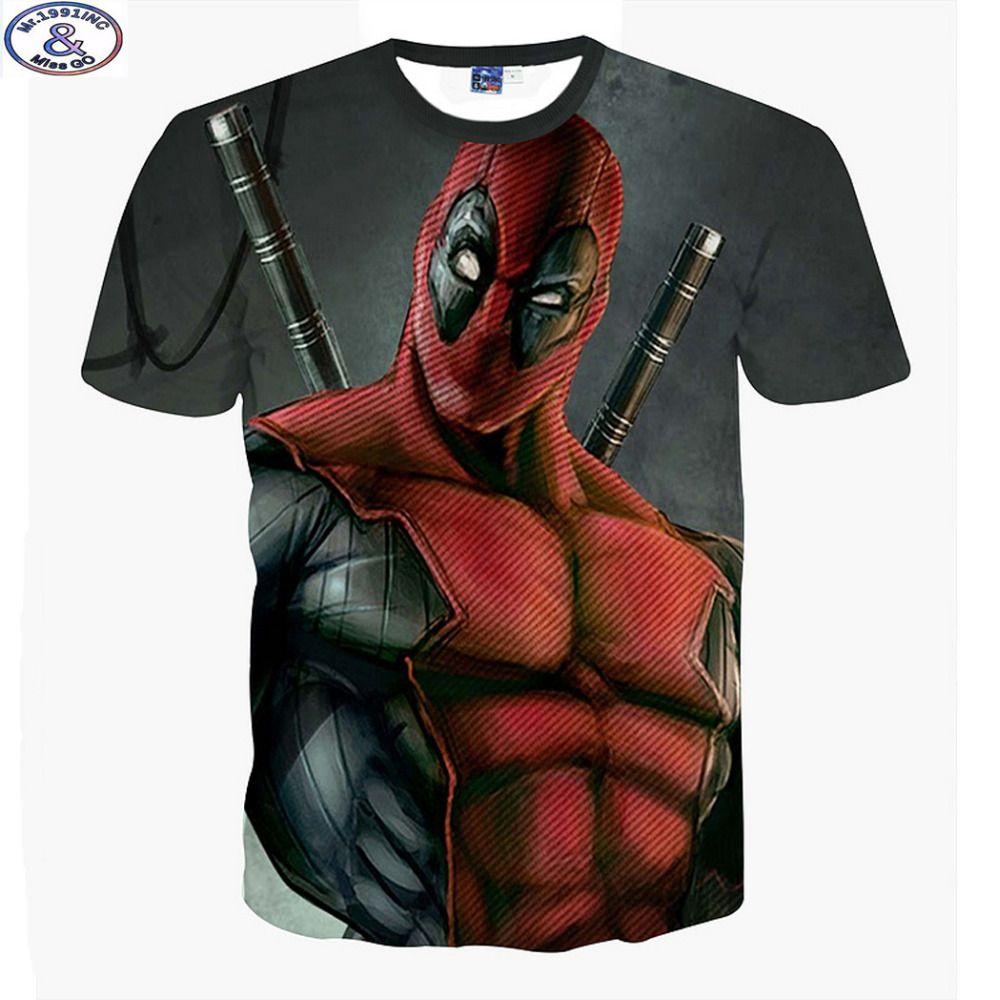Mr.1991 nouvelle annonce amérique bande dessinée Anime méchants Deadpool 3D imprimé t-shirt garçons grands enfants adolescents t-shirt enfants hauts A10