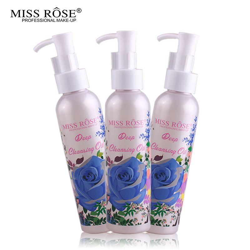 Miss Rose Makeup Remover Cosmetics Face Cleansing Oil 120ML Liquid Deep Cleansing Lotion Shrink Pores Lip Eye Clean Facial Care