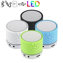 LED Mini Music Player TF Card USB Loudspeakers Speaker Wireless Bluetooth Speaker A9 With MIC For Phone PSP Laptop Handfree Call