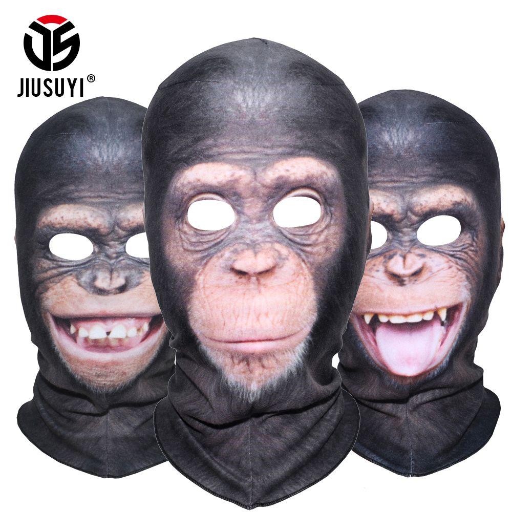 3D Animal Orangutan Chimpanzee Ferocious Funny Balaclava Thermal Wool Fleece Winter Warmer Snowboard Halloween Party Face Mask