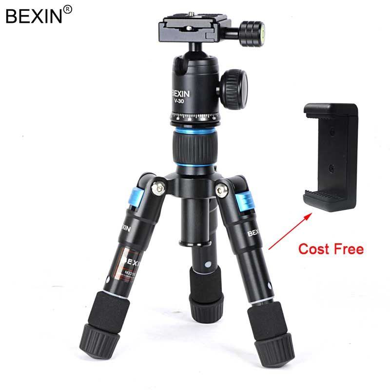 BEXIN Camera Travel Professional Photography <font><b>Smartphone</b></font> Fishing Tripod ball head Mini Tripod Holder for Phone Camera