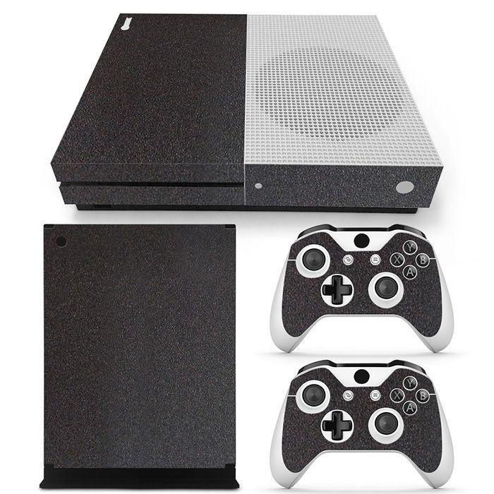Schwarz Carbon Fiber Vinyl Haut Aufkleber für XBOX One S konsole
