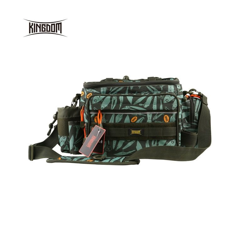Kingdom fishing Waterproof Fishing Bag Multifunctional Outdoor Adjustable Sided Waist Shoulder Carry Strap Waist Pack lyb-13