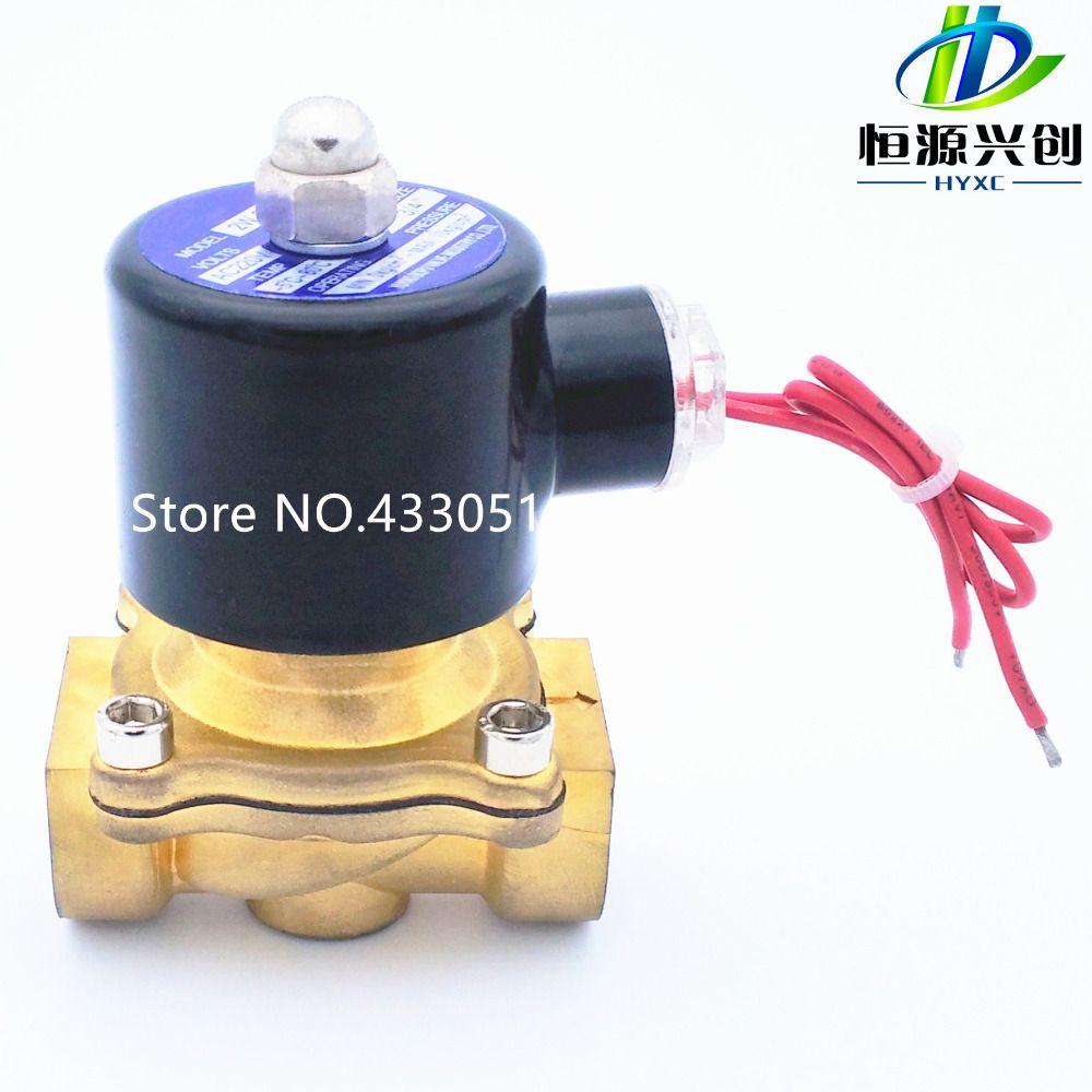 Free Shipping 2016 New 1/4,1/8,1/2,3/4,1,2, AC220V,DC12V/24V Electric Solenoid Valve <font><b>Pneumatic</b></font> Valve for Water Oil Air Gas