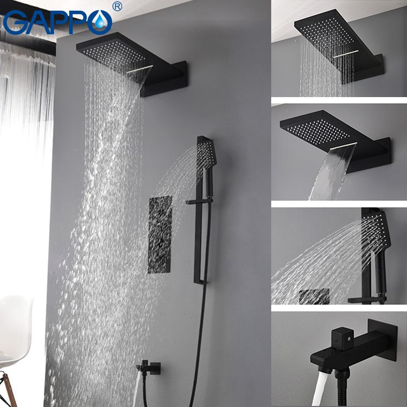 GAPPO shower faucet bathroom faucet LED shower mixer basin sink faucet bath tub brass rainfall Bathtub taps shower system