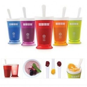New Fruits Juice Cup Fruits Sand Ice Cream Slush & Shake Maker Slushy Milkshake Smoothie Cup Summer Easy