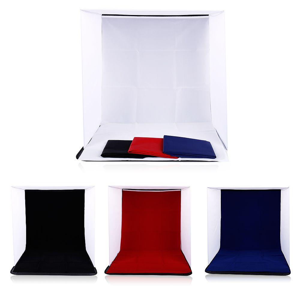 CY 40x40x40 cm Portable Mini Pliage Studio Photographie décors Pliable Softbox avec 4 couleur Arrière-Plan Doux et Lightbox