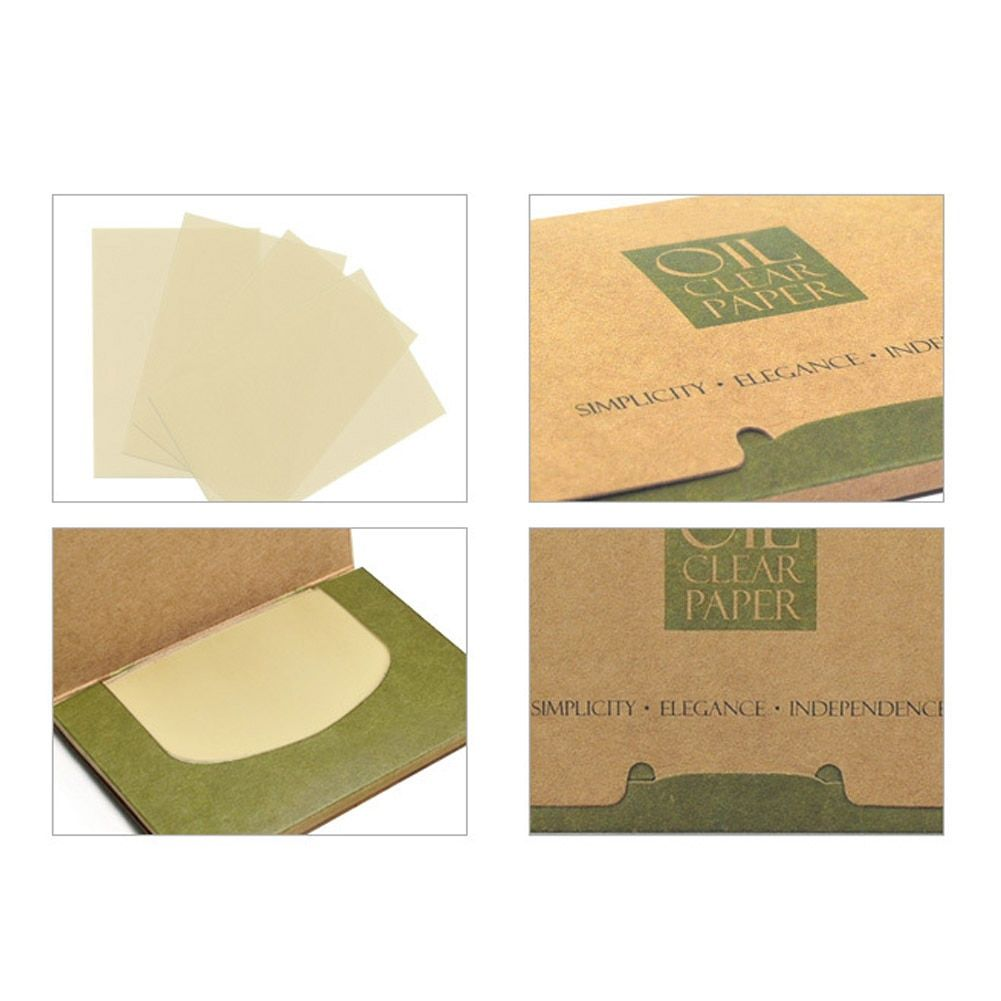 100 sheets/pack Facial Tissue Papers Green Tea Smell Makeup Cleansing Oil Absorbing Face Paper Absorb Blotting Cleanser Face