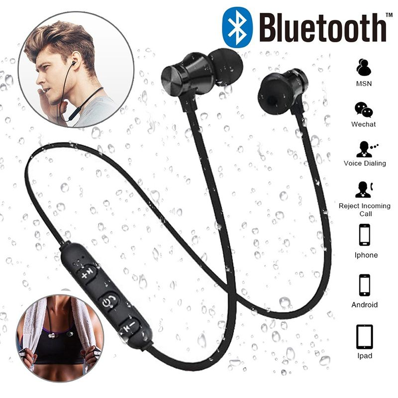 Magnetic Attraction Bluetooth Earphone Wireless Headset Waterproof Sports 4.2 with Charging Cable Young Earphone Build-in Mic