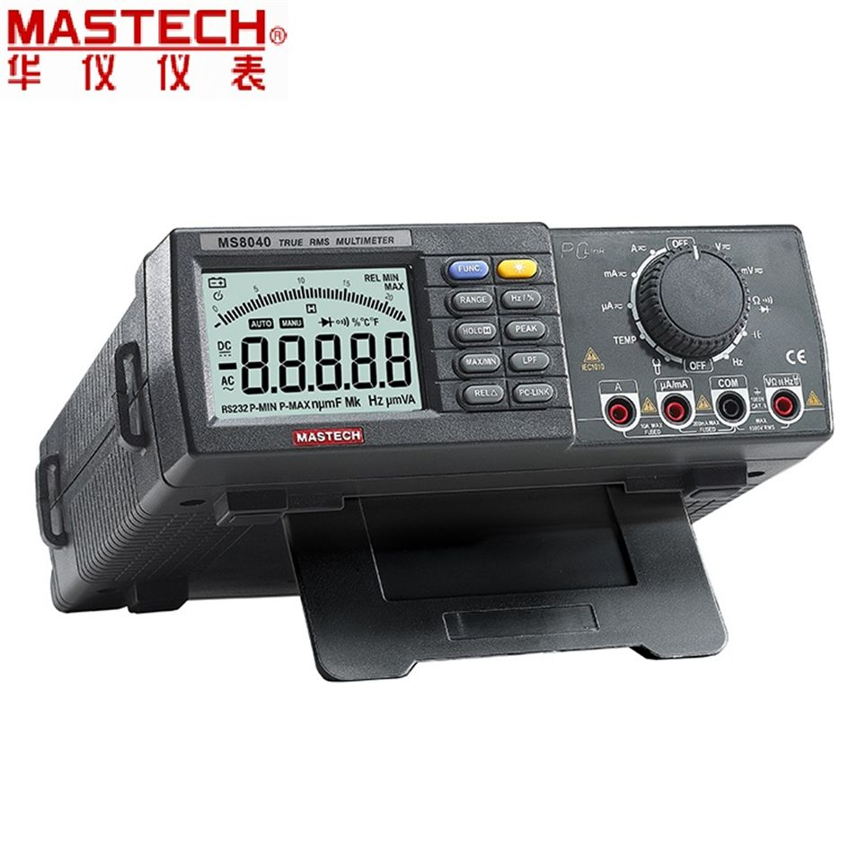 22000 Counts AC DC Voltage Current Auto range Bench multimeter True RMS Low-pass filtering With RS-232 Interface MASTECH MS8040