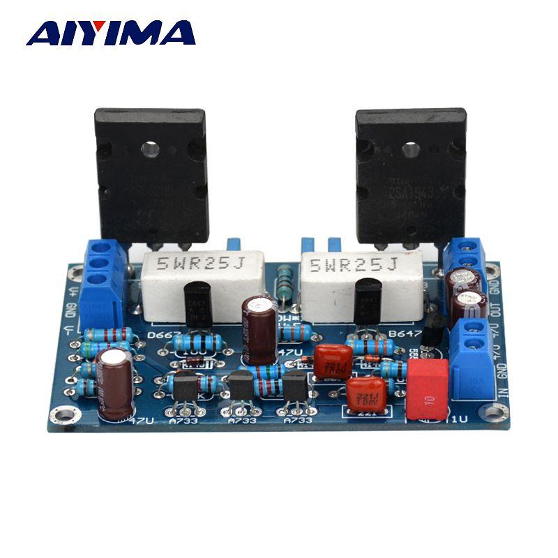 Aiyima Двойной DC 35 В 2SC5200 + 2SA1943 моно канала HiFi аудио Усилители домашние доска 100 Вт