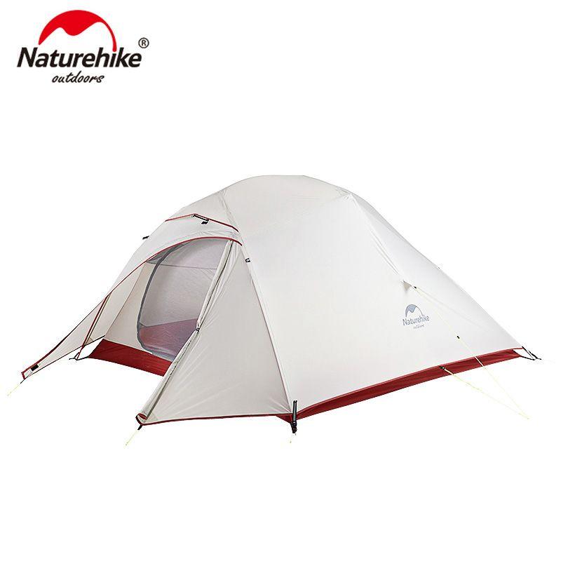 Naturehike Wolke Up Serie 20D Nylon Ultraleicht Camping Zelt Wasserdicht Wind-proof HikingTent Für 3 Person NH18T030-T