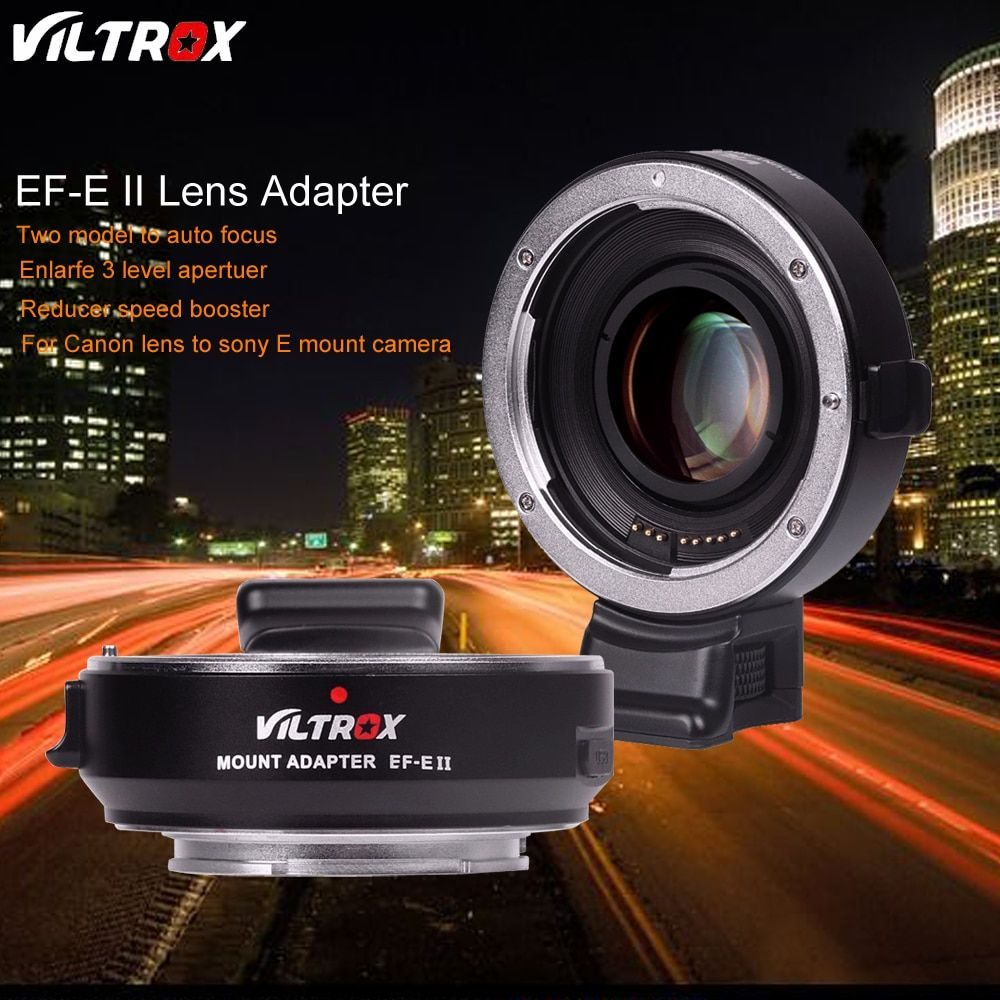 Viltrox EF-E II CD PD Auto Focus Reducer Speed Booster Lens Adapter for Canon EOS EF Lens to Sony Camera A9 A7 A7RII A7SII A6500
