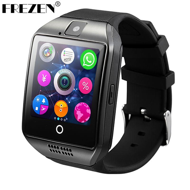 FREZEN Bluetooth Smart Watch Q18 <font><b>SmartWatch</b></font> With Camera MP3 <font><b>Smartwatch</b></font> Support SIM TF Card For Android Phone PK DZ09 A1 GT08 U8