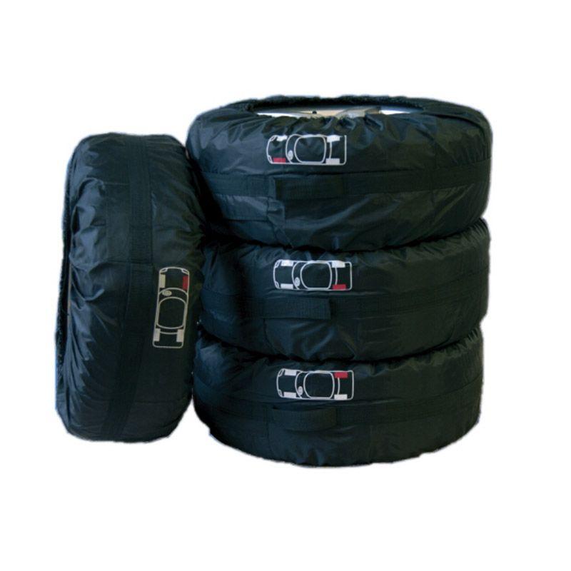 Couverture de pneu de rechange de voiture pour l'été hiver Polyester Auto protecteur de pneu sacs de rangement noir accessoires de roue pour berline SUV véhicule