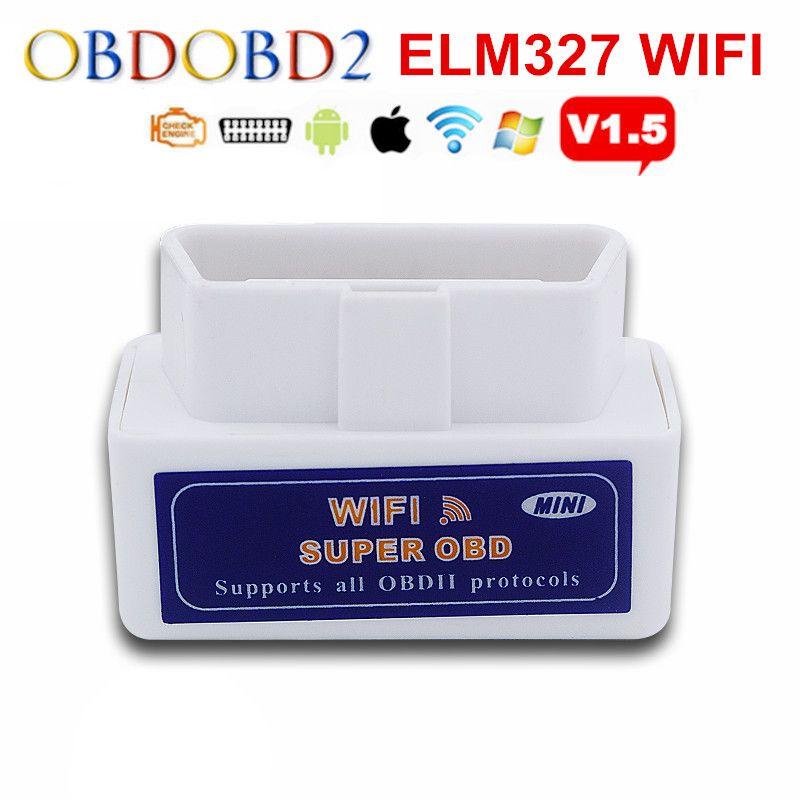 Lo nuevo WIFI ELM327 ELM 327 OBD2 Explorador Auto Para Android y Sistema IOS Mini ELM327 Bluetooth Soporta Todos Los Protocolos de la Nave Libre