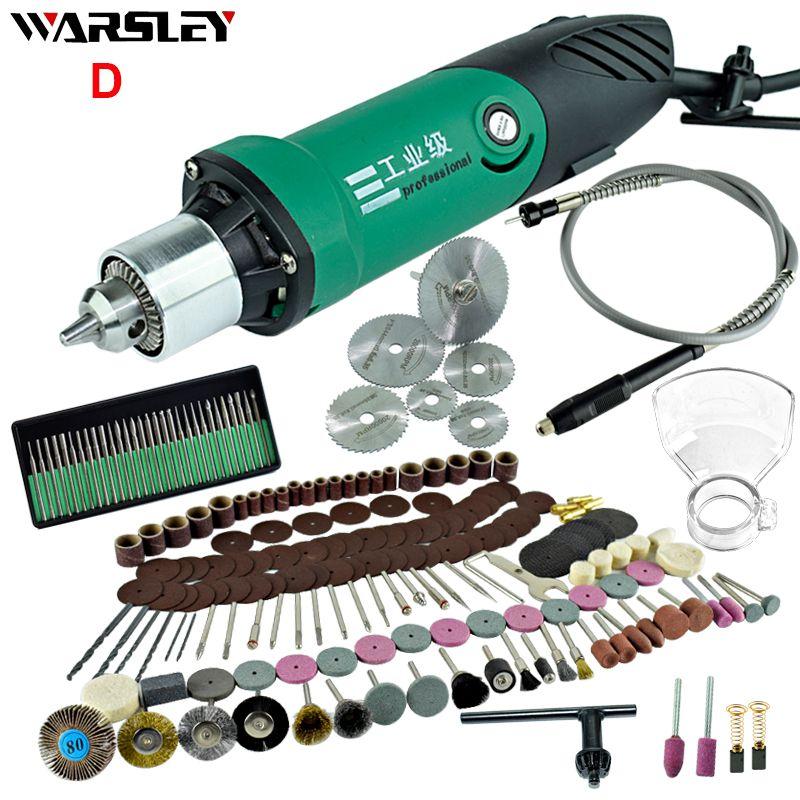 6mm 480W haute puissance Mini graveur électrique avec 6 positions vitesse Variable pour Dremel outils rotatifs avec arbre Flexible et