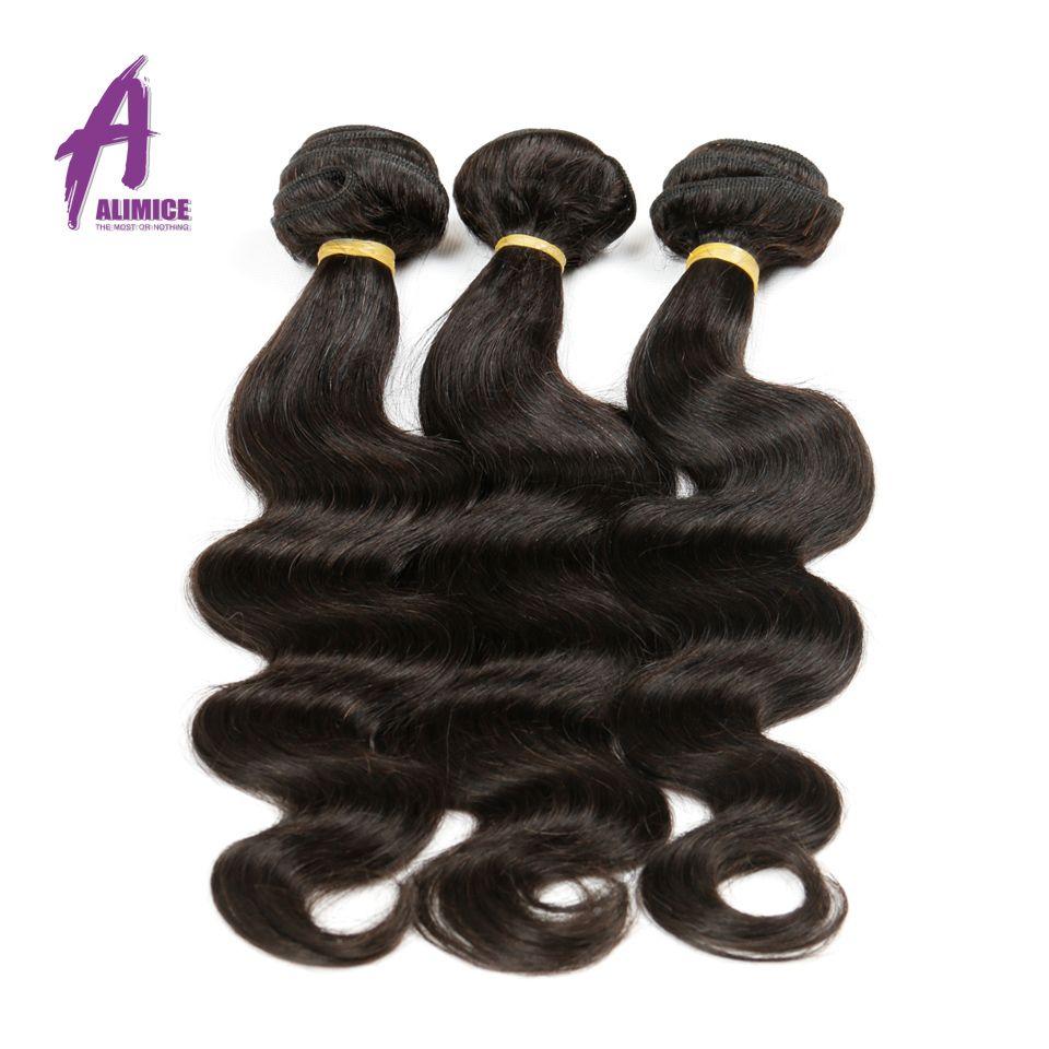 Alimice Cheveux Brésiliens Corps Vague Bundles Naturel Couleur 8-30 pouce Réel de Cheveux Humains Bundles Non Remy Cheveux Extensions aucun Rejet