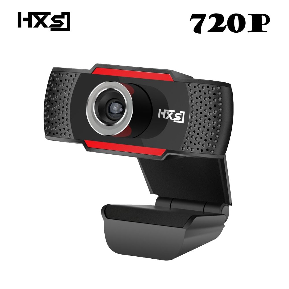 HXSJ USB HD Webcam 720P Rotatable PC Computer Camera Video Calling and Recording with Noise-canceling Mic Clip on Style For PC