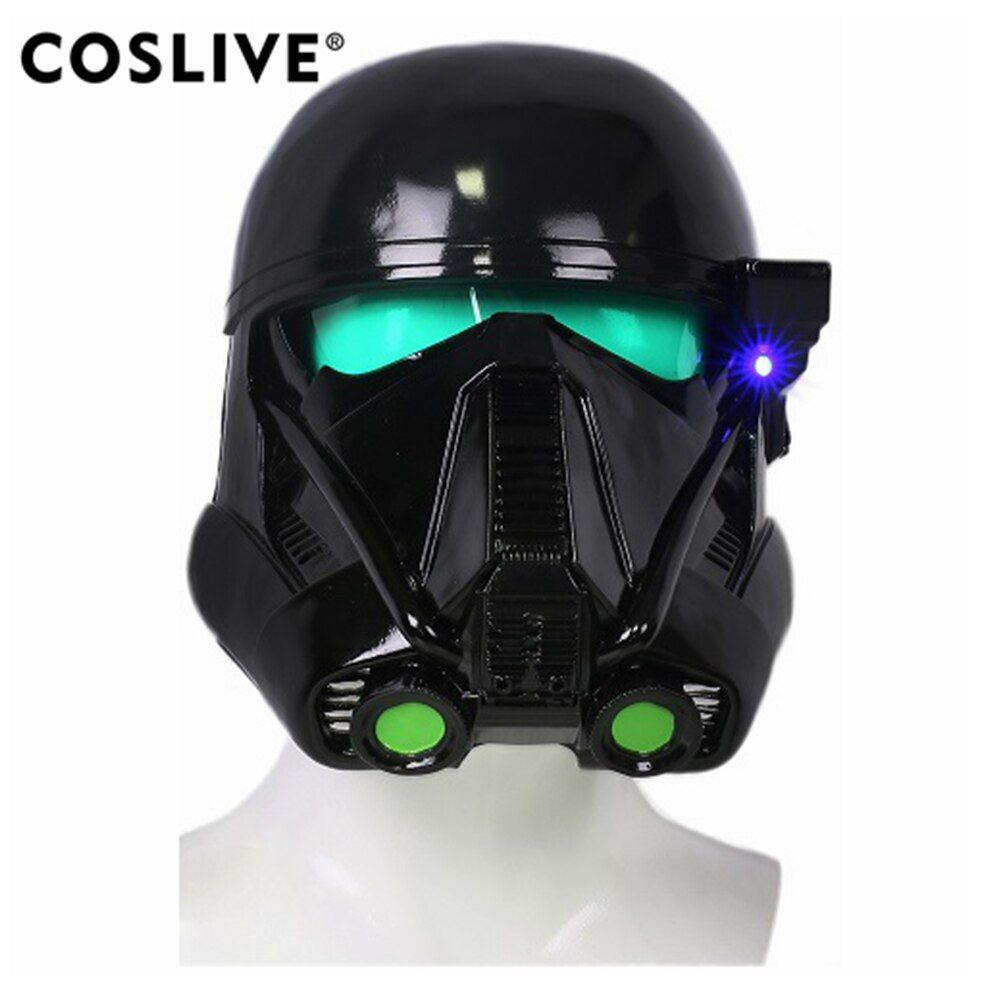 Coslive Death Troopers Helmet Full Head Mask Rogue One A Star Wars Story COSplay Props Death Troopers Cosplay Costume Props