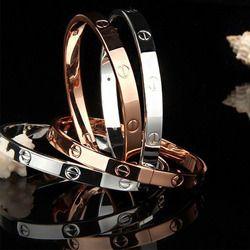 2017 à la mode rose or argent bracelet pour femmes bracelet amant bracelet bijoux titanium amour bracelet bracelet pulseiras