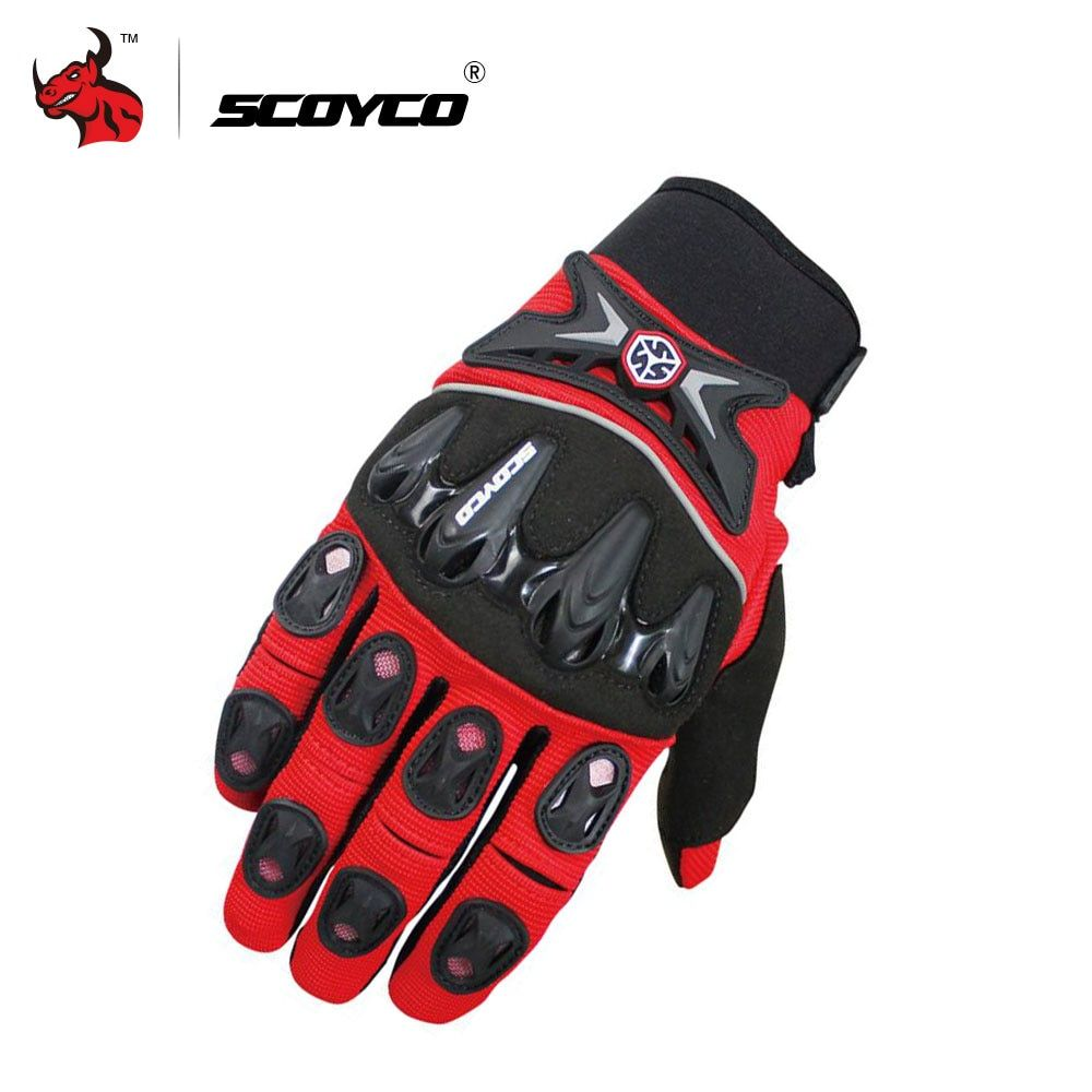 SCOYCO Motorcycle Gloves Motocross Off-Road Racing Gloves Moto Gloves Breathable Mesh DH Dirt Bike Street Riding Guantes Luva