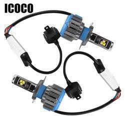 Icoco H4 H7 H11 LED 12 V coche LED faro 70 W 7000lm 6000 K coche luz LED Auto frontal lámpara H1 H8 H9 H11 H27 bombilla led coche de estilo