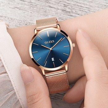 Ultra thin Ladies Watch Brand Luxury Women Watches Waterproof Rose Gold Stainless Steel Quartz Calendar Wrist Watch montre femme