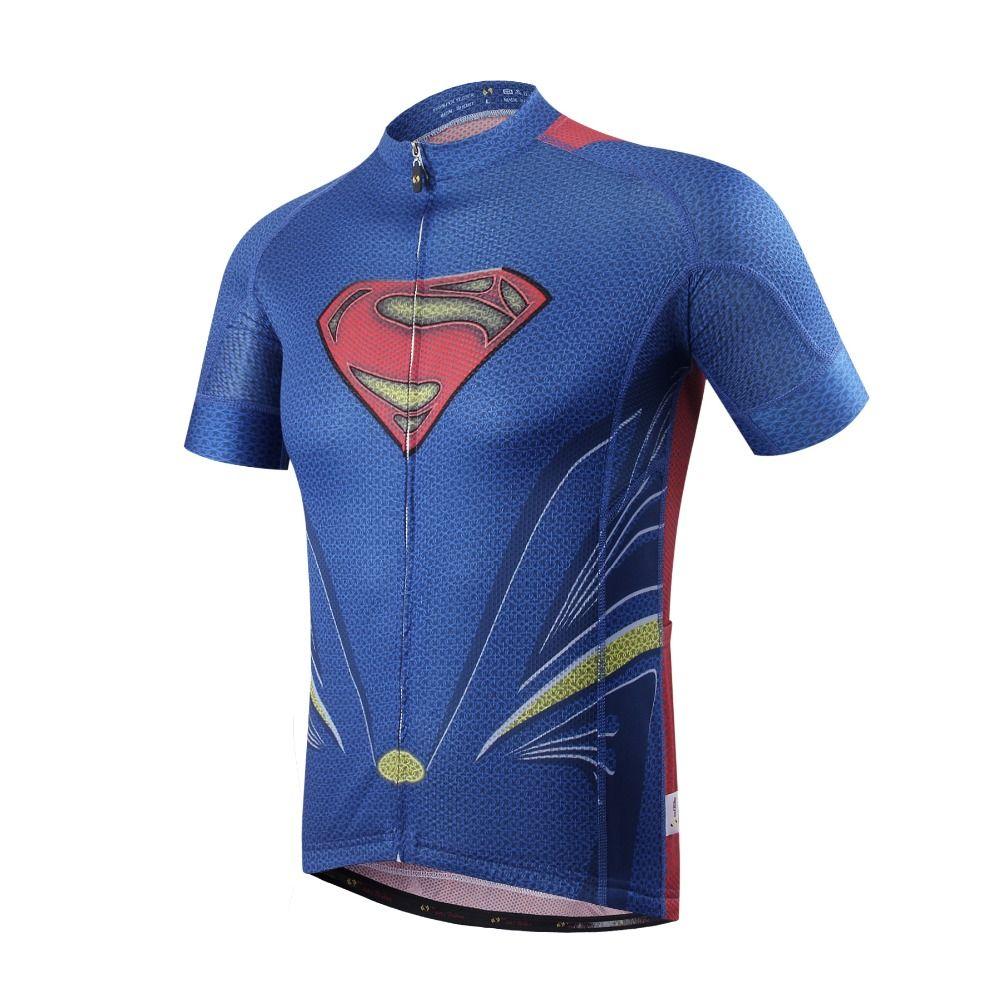 Offre spéciale superman maillots de cyclisme Pro Ropa Ciclismo/spiderman vêtements de cyclisme/vélo à séchage rapide maillots maillot ciclismo