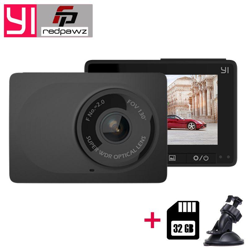Original Xiaomi YI Compact Dash Camera 1080p Full HD Car Dashboard Camera with 2.7 inch LCD Screen 130 WDR Lens G-Sensor Night