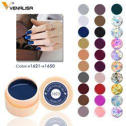 Venalisa LED Nail Dessin Gel 180 Couleurs Pur Gel Tremper off Professional Nail Peinture Gel laque gelpolish couverture rose couleur gel