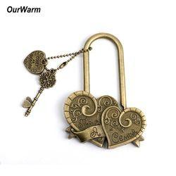 OurWarm Рустикальные свадебные двойные сердечные любовные замки ключи свадьба помолвка сувениры украшение ты + я = семья