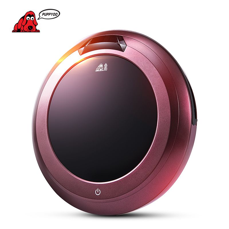 PUPPYOO Intelligent Robotic Vacuum Cleaner Self-Charging & Side Brush for Home Remote Control Household Robot Aspirator V-M611A