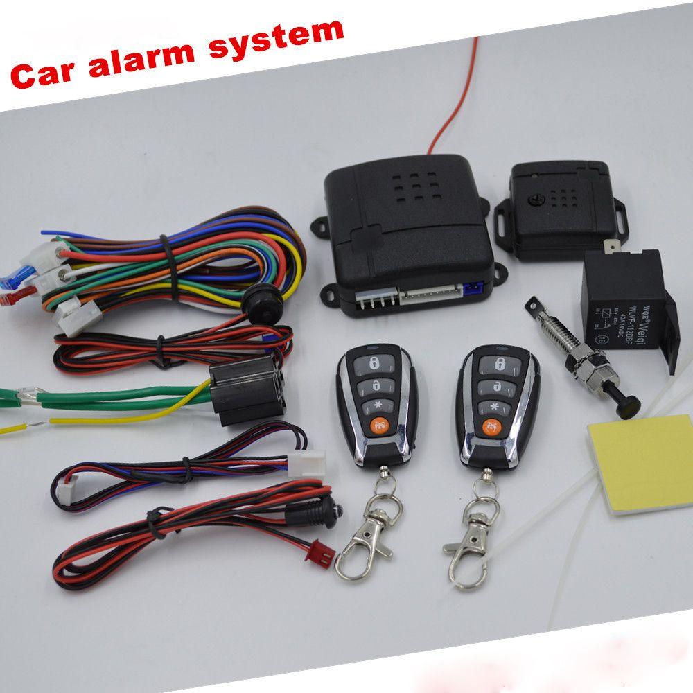 Keyless Entry Auto Alarmanlage Schubstart/Stopp-taste Auto Motor Fernbedienung Alarm Entsperren Auto Fenster Bis Ausgang Fernbedienung Zentralverriegelung