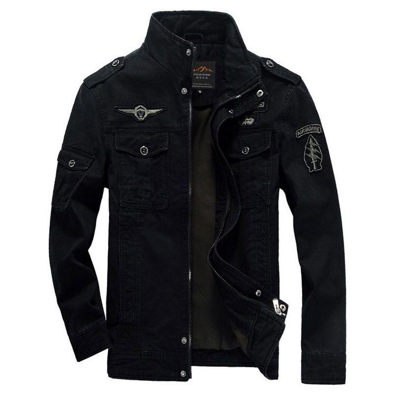 Men Jacket Winter Military Army bomber jackets jaqueta masculina plus size 6XL coat mens denim jacket for aeronautica militare