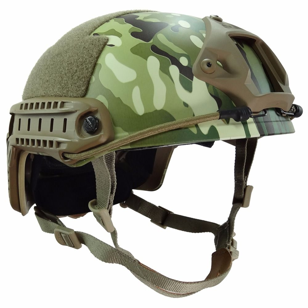 MH Standard Schnelle Ops Kern Taktischen Helm Outdoor Krieg CS Spiel Airsoft Paintball Kopfschutz Helm mit 12-in-1 Headwear