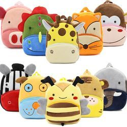 2019 3D Cartoon Plush Children Backpacks kindergarten Schoolbag Animal Kids Backpack Children School Bags Girls Boys Backpacks