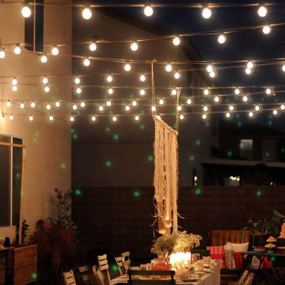 10 M 50Led ampoules à énergie solaire a mené des lumières de ficelle pour l'éclairage extérieur cour rue Led de jardin lumières de fée guirlande de noël