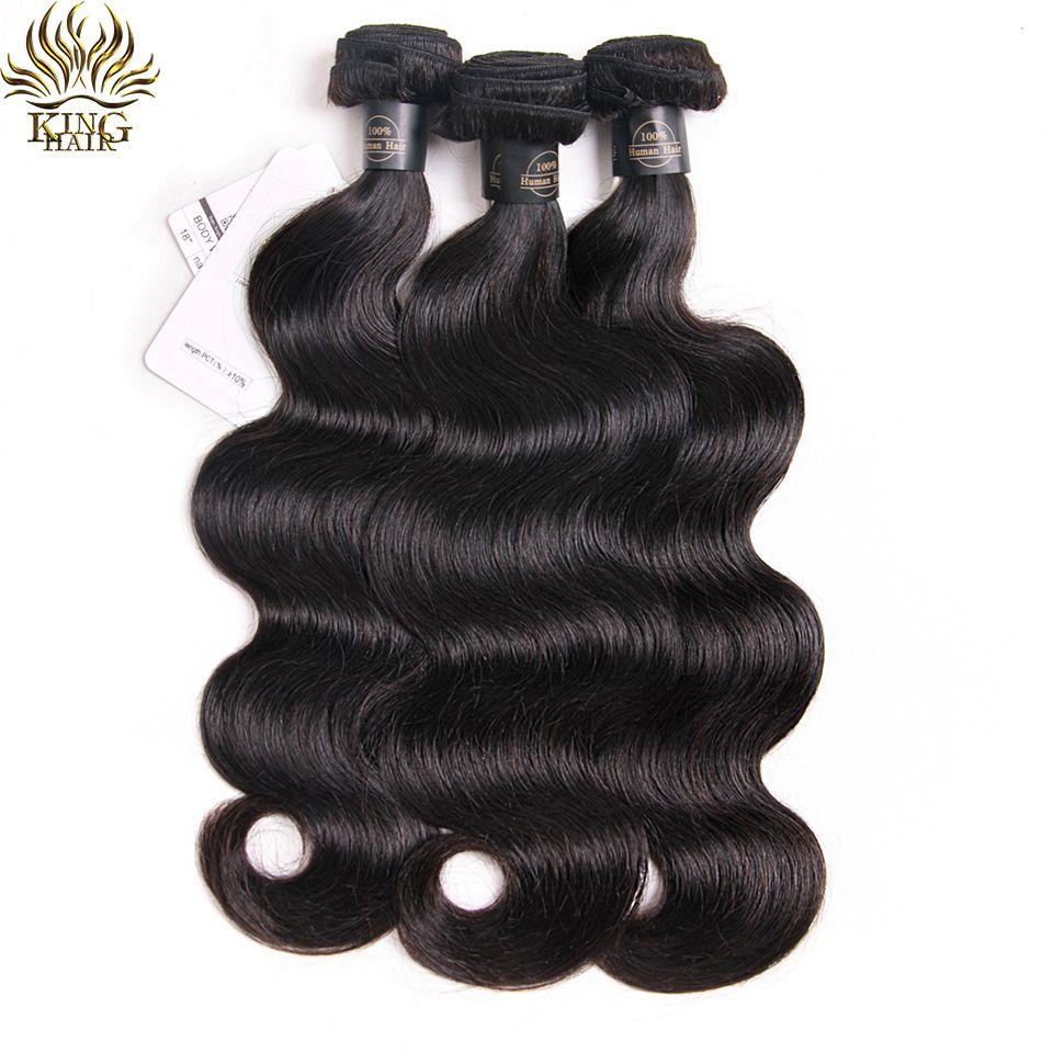 Roi Cheveux Péruvienne Vague de Corps Cheveux Weave Bundles 100% de Cheveux Humains Bundles Naturel Noir Couleur 8-28 pouces Remy extensions de Cheveux humains