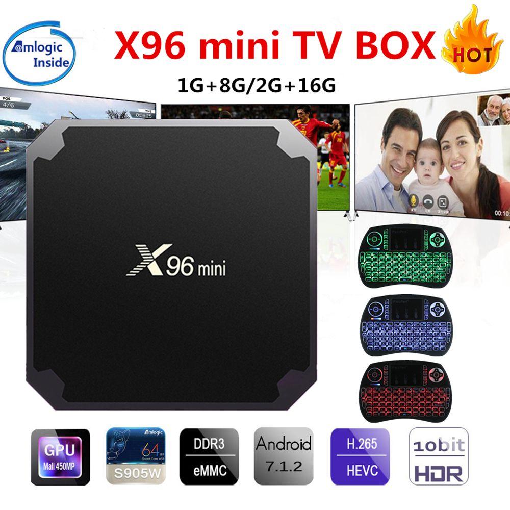 X96 mini Android TV Box KD Player 17.4 Amlogic S905W Quad Core 2GB 16GB UHD H.265 2.4G WiFi 4K Media Player X96mini Set top Box