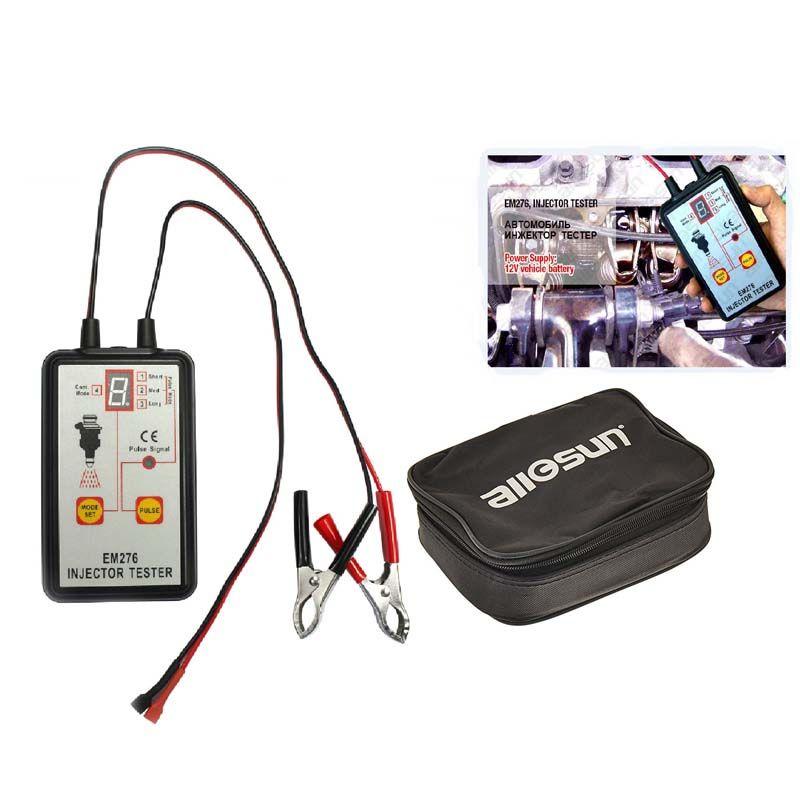 Testeur d'injecteur de carburant analyseur de système de pompe à carburant automobile 4 Modes d'impulsion Allsun EM276 manomètre d'injecteur