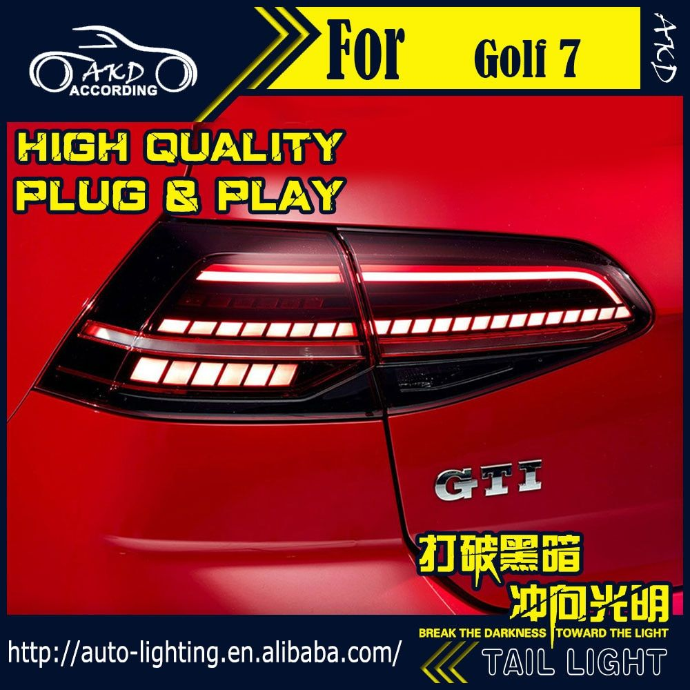 AKD Car Styling Tail Lamp for VW Golf 7 Tail Lights Golf 7.5 LED Tail Light LED Flash Signal LED DRL Stop Rear Lamp Accessories